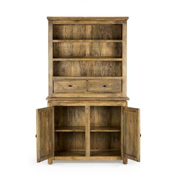Mueble expositor de estilo vintage.