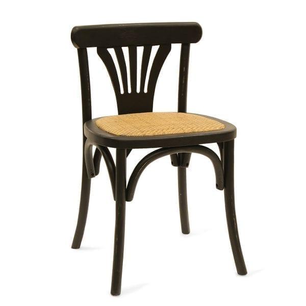Imagen de las sillas bistro Jade negras.