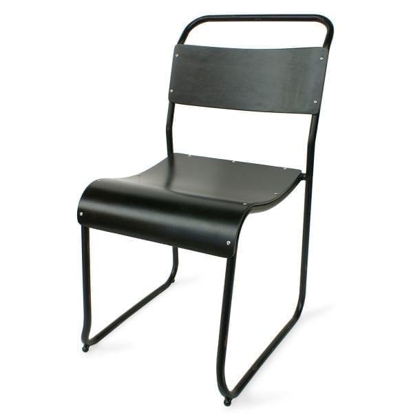 Foto de la silla para bar modelo Preston tono negro de Francisco Segarra.