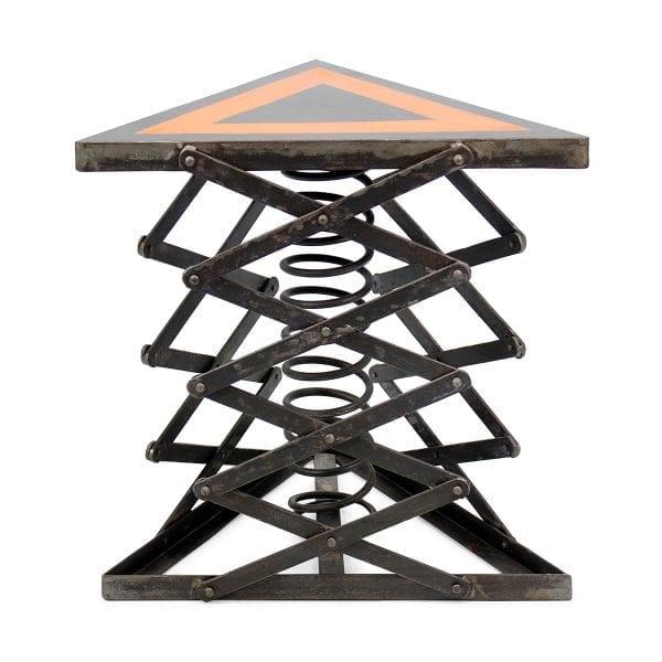 Table carré en métal de Francisco Segarra