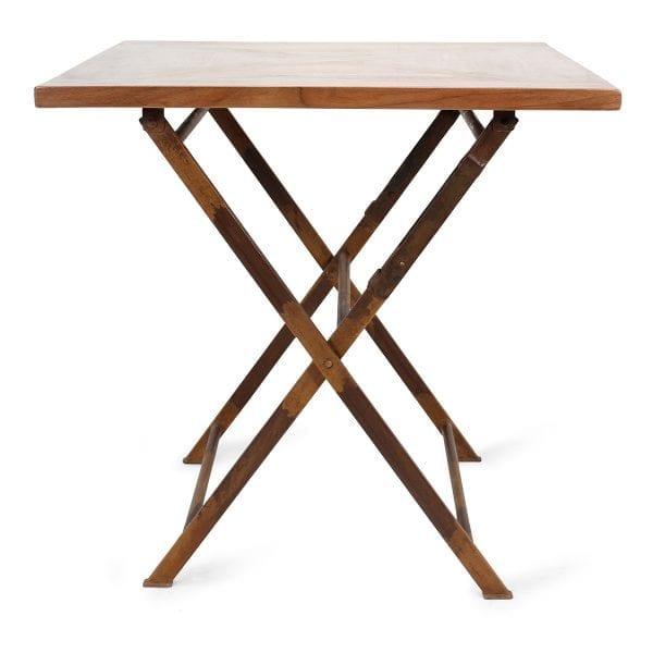 Table de bar pliante en bois de mangue.