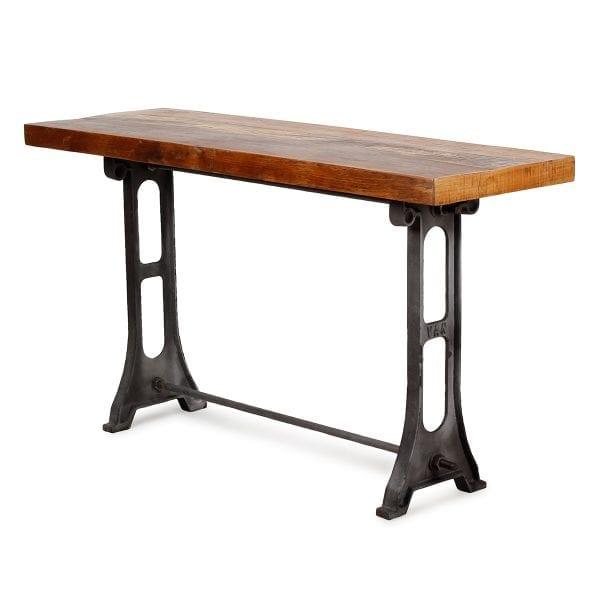 Table console en bois pour réception.