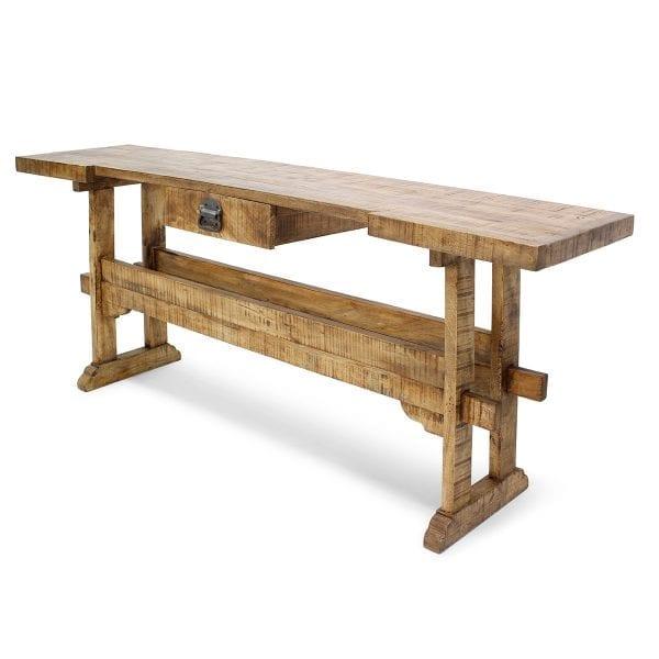 Photo. Table en bois de style vintage.