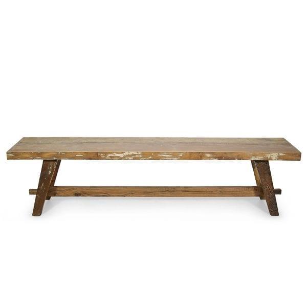 Banc en bois et fer forgé modèle Taube.