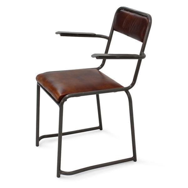 Chaise en simili cuir pour bar.