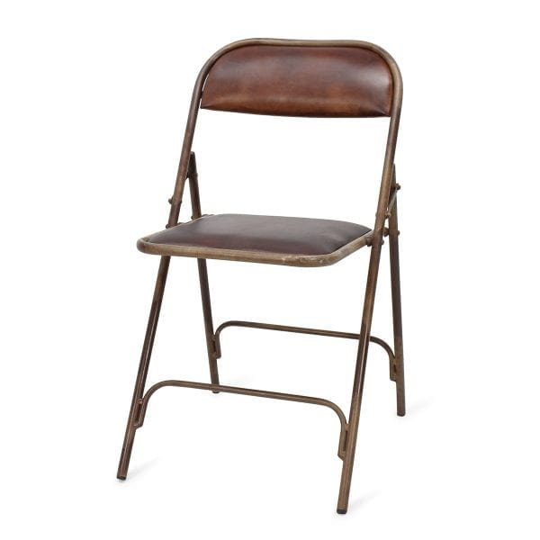Chaise de bar pliante en cuir.