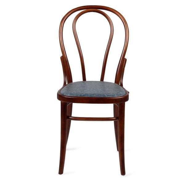 Chaise de bar style vintage bleue.