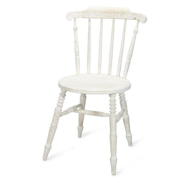 Chaises blanches en bois Miriam.