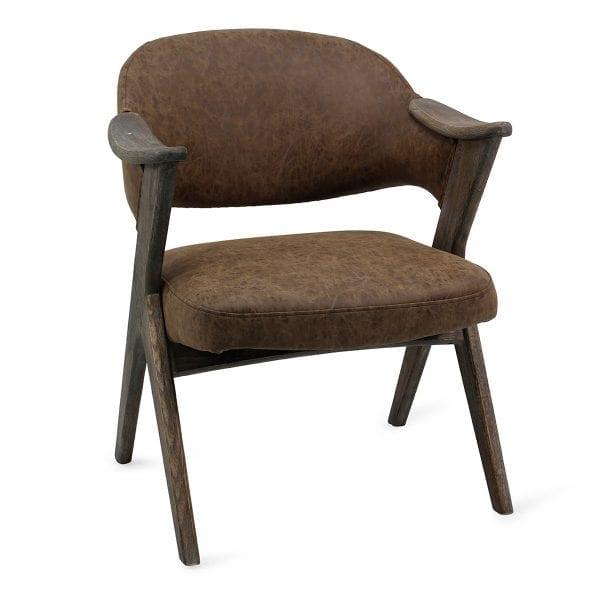 Chaise de bar danoise de style vintage.