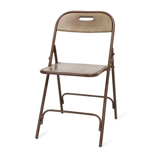 Chaise de bar pliable en bois.