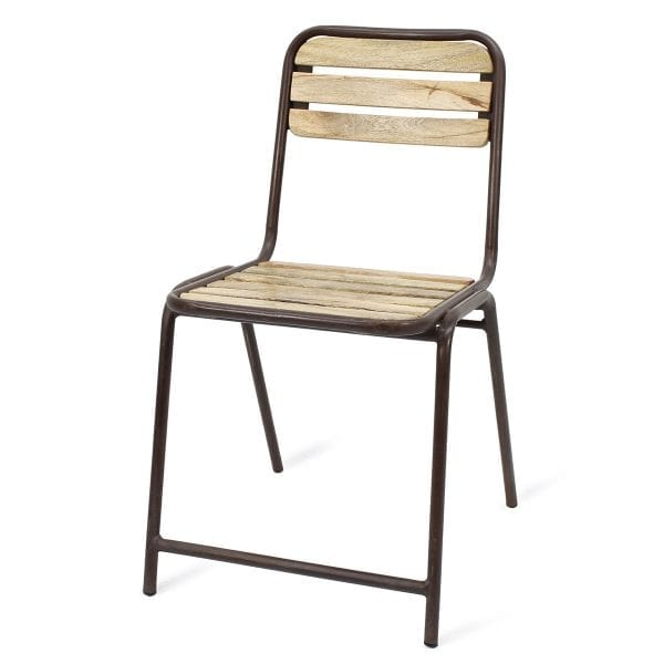 Chaise de brasserie ou cafétéria.
