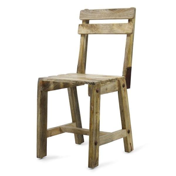 Chaise en bois d accacia pour restaurants.