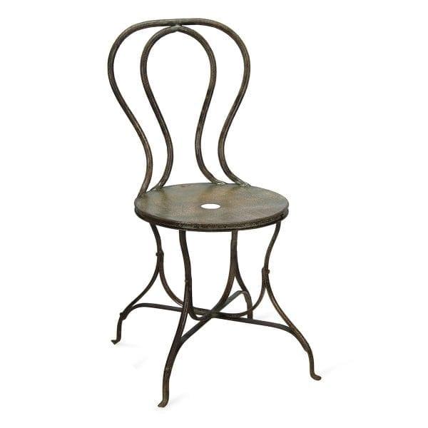 Photo.Chaise fer forgé pour hôtellerie.