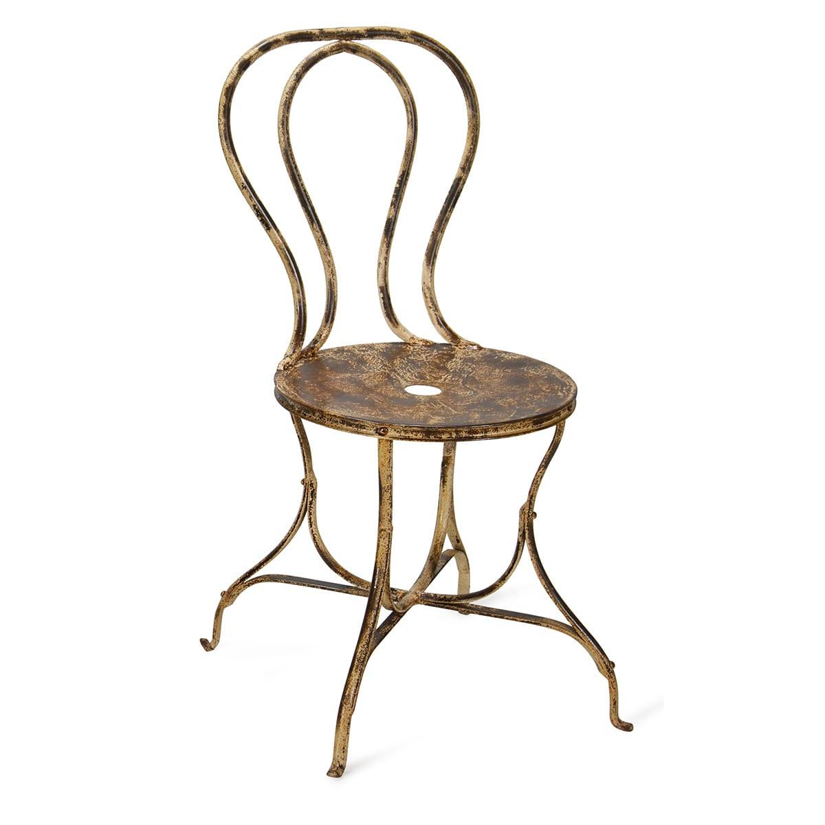 Chaise Fer Forgé Et Bois chaise en fer forgé vintage pour hôtellerie modèle marsella