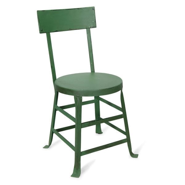 Chaise industrielle verte collection toga.