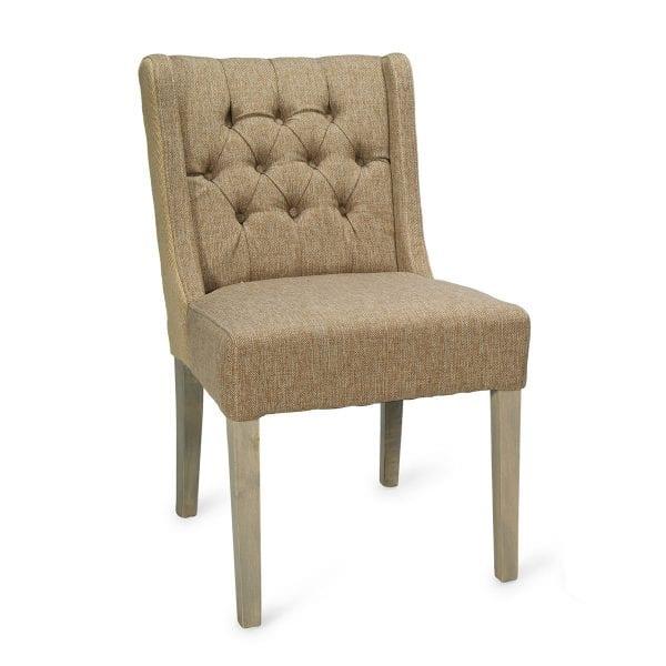 Chaise tapissée vintage de Francisco Segarra, chaise en bois.