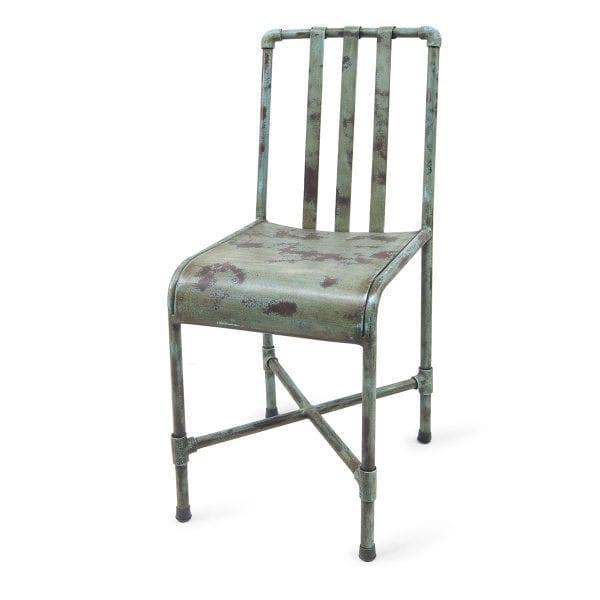Chaise pour restaurant ou bar verte.