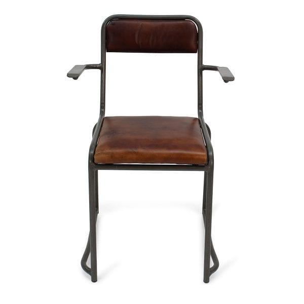 Chaise en simili cuir pour bar ou restaurant.