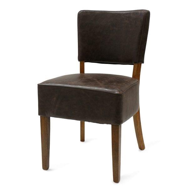 Chaise en cuir synthétique de FS.