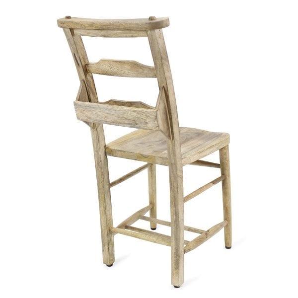 Chaise pour bar et restaurant en bois.