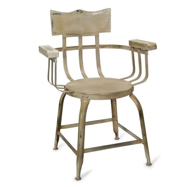 Chaise blanche accoudoir modèle llucena.
