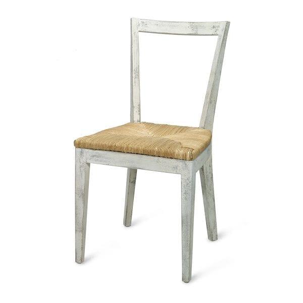 Chaises blanches en bois Enea.