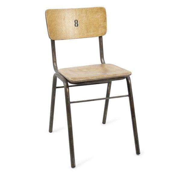 Chaises en bois pour cafétérias ou bars.