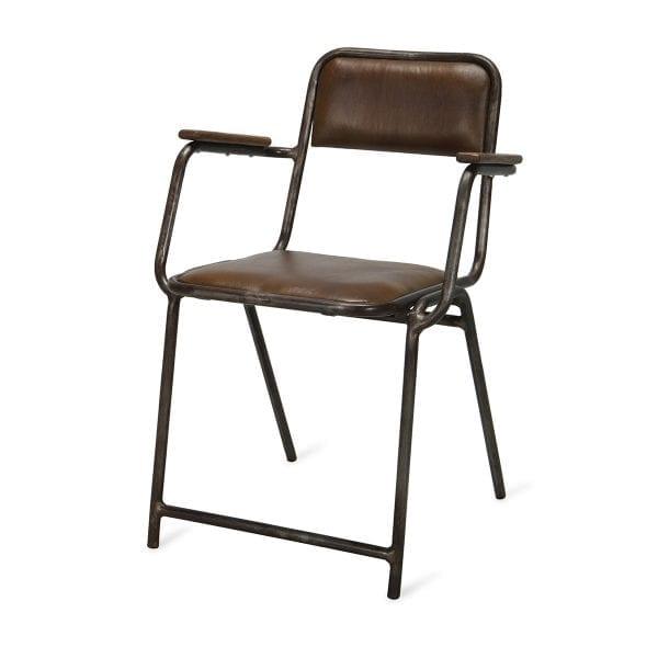 Chaises en bois vintage Leo.