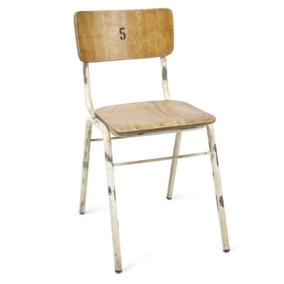 Chaises de cafétéria en bois Romina.