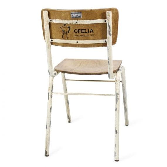 Chaise vintage pour cafétéria.