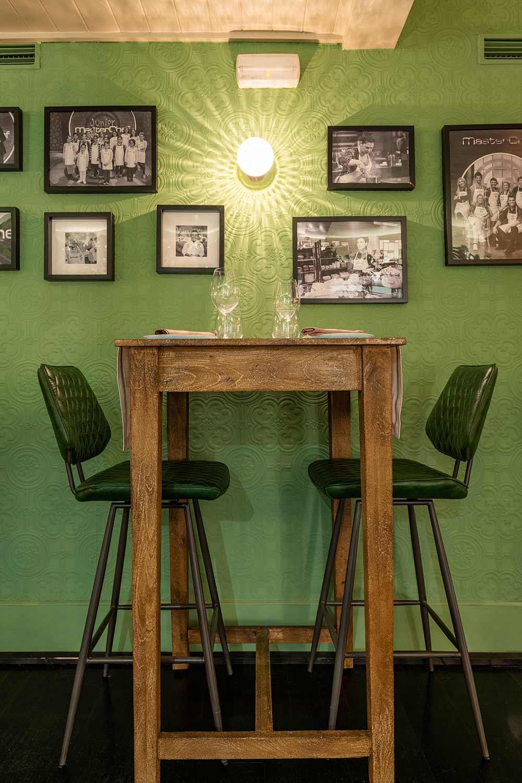 Mobiliario para el diseño de restaurantes.