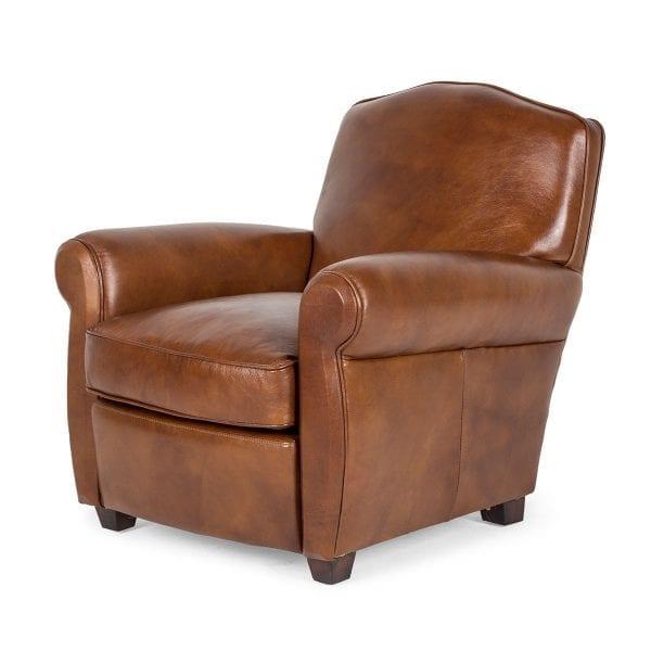 Fauteuil vintage design fabriqué en cuir.