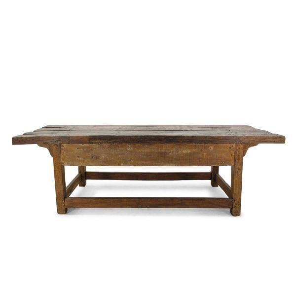 Mesas antiguas de madera para interiorismo comercial.
