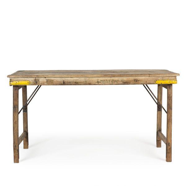 Mesas antiguas plegables.