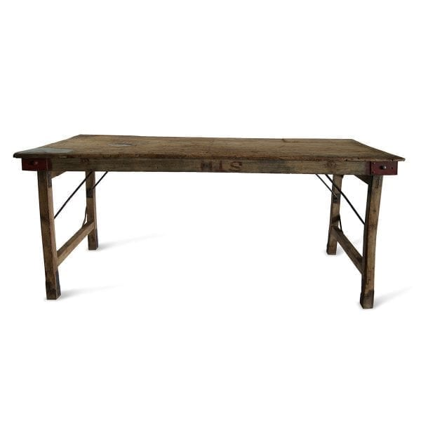 Imagen de las mesas antiguas rústicas de venta en Francisco Segarra.