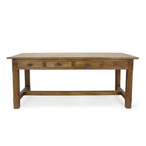 Mesas para hostelería en madera con sobre rectangular.