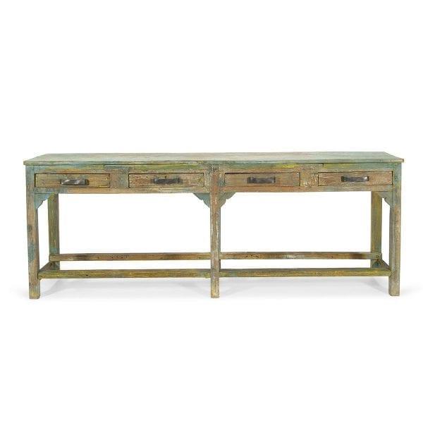 Meuble en bois de bar ou de restaurant.