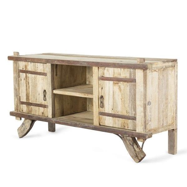 Meuble comptoir en bois.