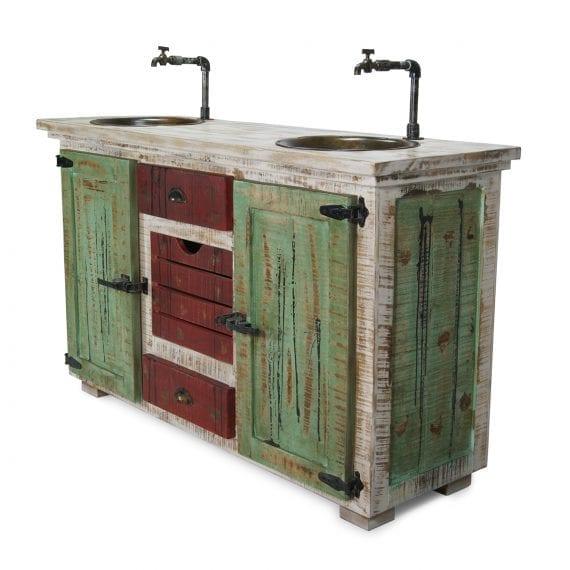 Meuble lavabo vintage pour le secteur de la restauration.