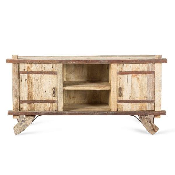 Mostrador de madera de estilo vintage.