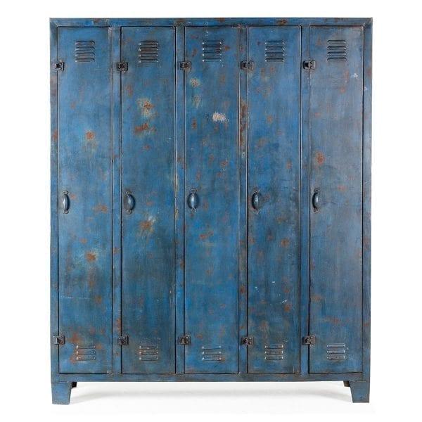 Mueble botellero Siena azul.