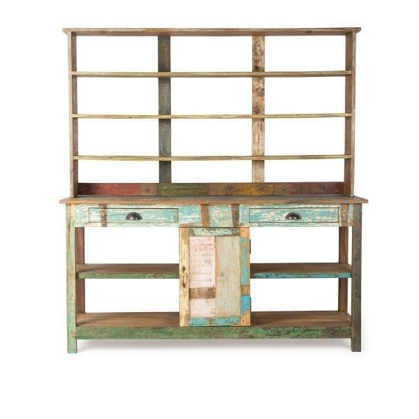 Mueble expositor vintage para tienda.