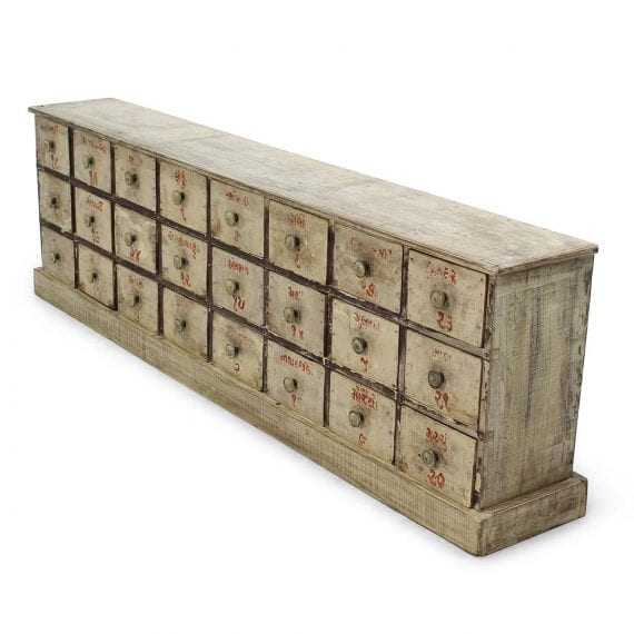 Muebles antiguos para mercerías.