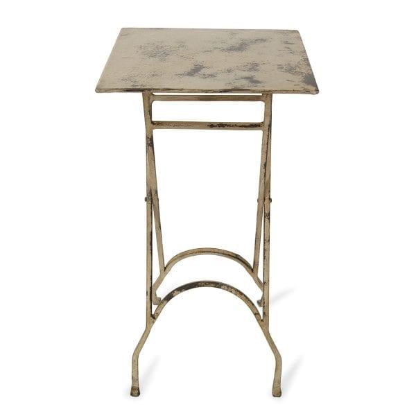 Photo.Table auxiliaire carrée pliable en fer pour les restaurants.