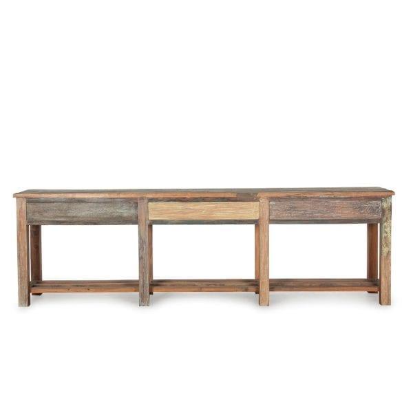 Table console en bois vintage.