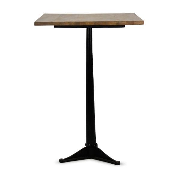 Table de bar en bois carrée.