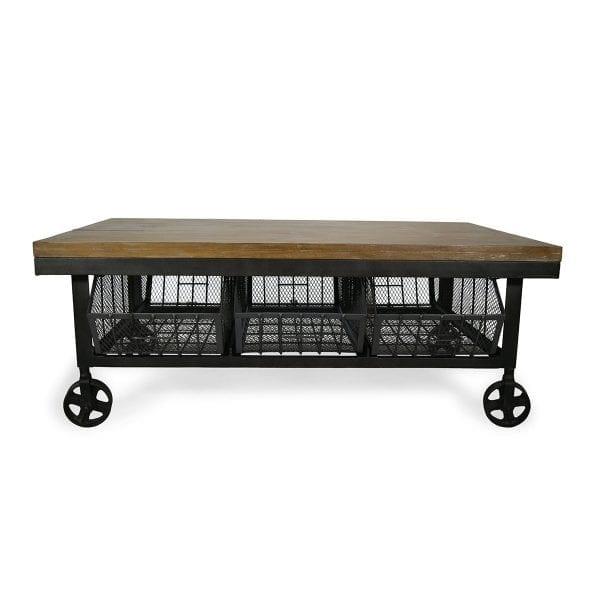 Photo. Table industrielle style vintage.