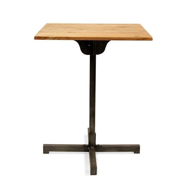Photo. Table pied central pour les restaurants.