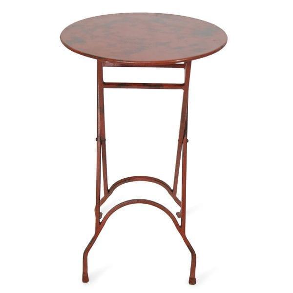 Photo.Table auxiliaire ronde pliable en fer pour les magasins.