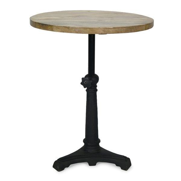 Table ronde en bois restaurant Aruca.